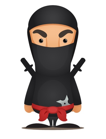 stealth: Cartoon Ninja Illustration