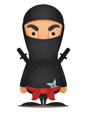Cartoon Ninja Illustration