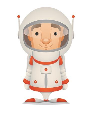 Cartoon Astronaut Illustration