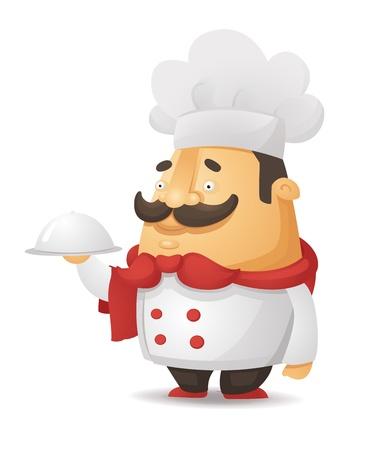 gourmet cooks: Cartoon Chef Character
