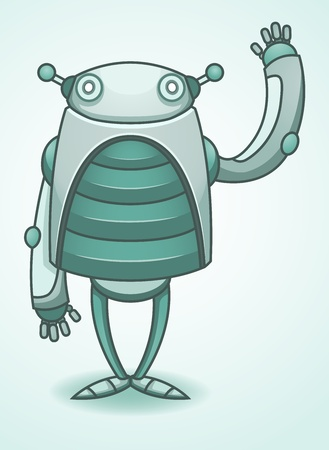 salutation: Vintage Robot Waving