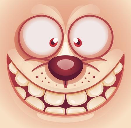 Lachen Cute Animal Gesicht