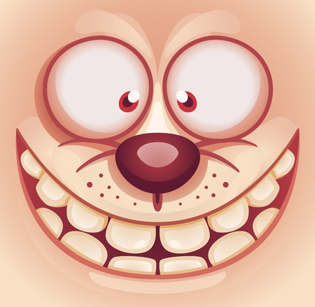 Laughing Cute Animal Face Vector