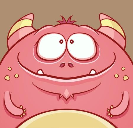 horned: Cute Horned Monster Illustration