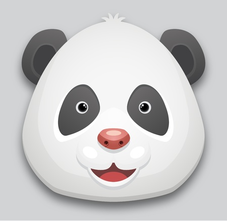 Cute Panda Head Vector