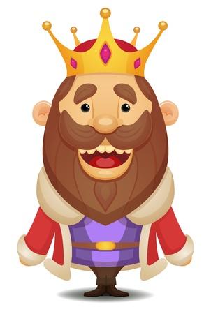 rey: Cartoon Rey Vectores