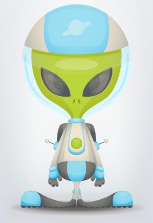 cartoon monster: Alien Illustration