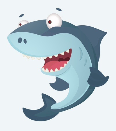 shark cartoon: Shark Illustration