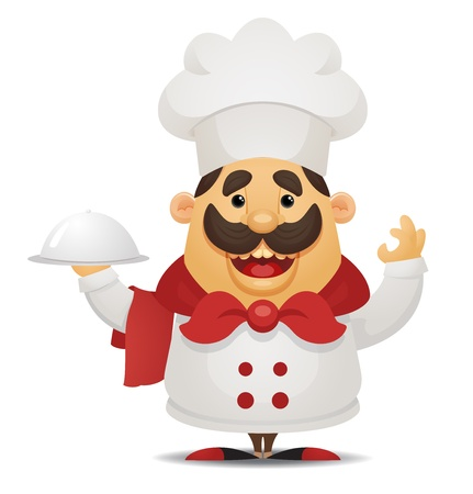 chef italiano: Cartoon Chef