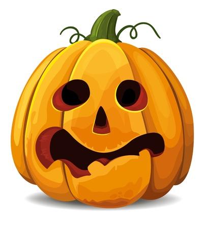 Scared Halloween-Kürbis Standard-Bild - 15506213