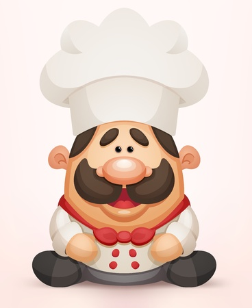 cocinero italiano: Cartoon Chef