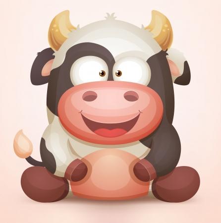 bull cartoon: Cow