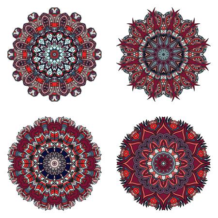 Unusual mandalas can be used for mandala design or mandala art. Suitable for wedding