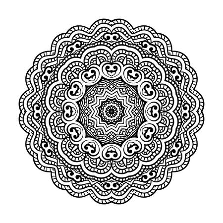 Rond pour les pages de livre de coloriage, conception de mandala. Coloriage avec mandala. motif de dentelle d'ornement rond