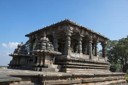 Nandi Shrine. Hoysalesvara Temple, Halebid, Karnataka, 12th Century. Shiva temple