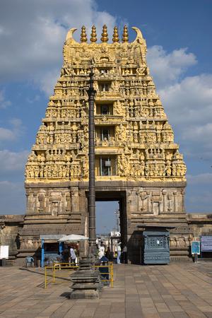 Chennakeshava Temple, Kesava or Vijayanarayana Temple. Belur, Hassan district Karnataka, India. 12th-century Hindu temple commissioned by King Vishnuvardhana in 1117 CE Editorial