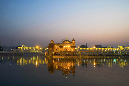 Every sparkle is a golden blessing, The Golden Temple Stock Photo
