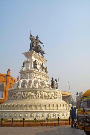Statue of the saviour, Raja Ranjit Singh, Heritage Street Stock Photo