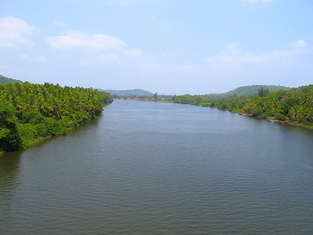The ever picturesque river, Kokan Maharashtra Stok Fotoğraf