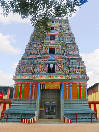 Decorated Gopuram of Kidangapuram temple, Kerala India
