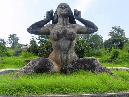 Malampuzha garden, Kerala from India Standard-Bild