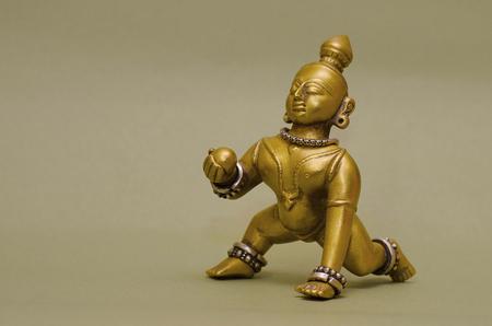 An idol of Lord Krishna, Pune, Maharashtra