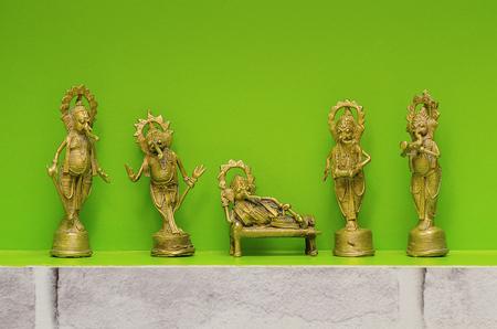 Metal idols of Lord Ganesha, also known as Ganapati or Vinayaka