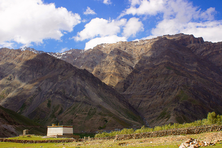 A traditional house In the mountains. Himachal Pradesh