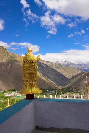 Golden Pillar Top, at Kye monastery, near china border. Himachal Pradesh