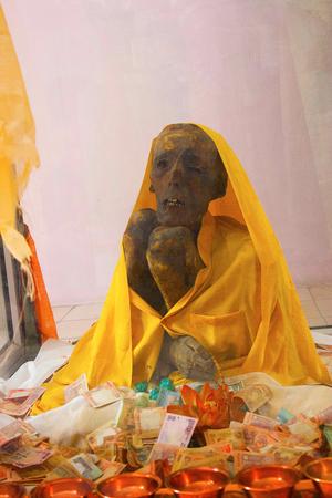 Lama Mummy 500 Year Old, at Gue, Kaza, near Kinnaur, Himachal Pradesh