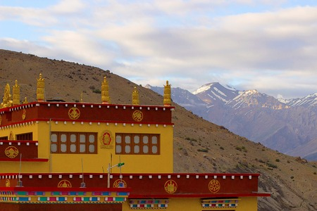 Monastery at the mountains of Spiti. Himachal Pradesh Stock Photo