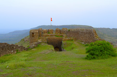 Main entrance gate and bastion of Malhargad fort, Sonori fort