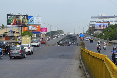 People driving from the new over bridge near Swargate