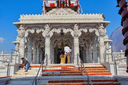 Façade, Ashapura Mataji temple, Katraj road, Pune. Maharashtra, India