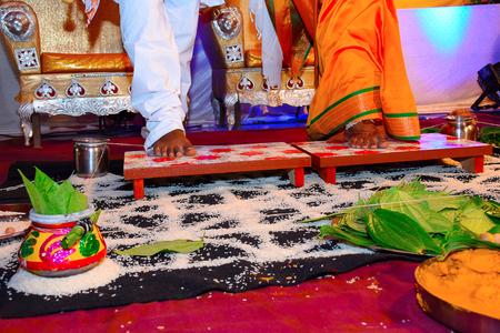 Indian wedding ceremony ritual, Pune , Maharashtra Stock Photo