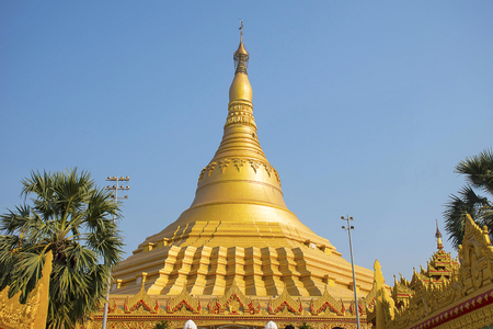 The Global Vipassana Pagoda. Meditation Hall near Gorai, North-west of Mumbai, India.