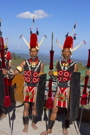 Yimchunger Tribe men at Horbnill Festival, Kisama
