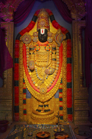 Lord Tirupati Balaji idol, during Ganapati festival