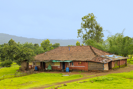 Indian traditional village house in Konkan region near Varandhaghat, Pune