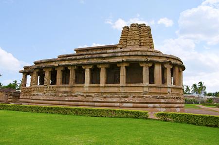 Durga Temple view from Aihole, Bagalkot, Karnataka state of India