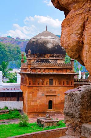 View of mosque near Badami caves, Badami, Bagalkot city from Karnataka Stock Photo