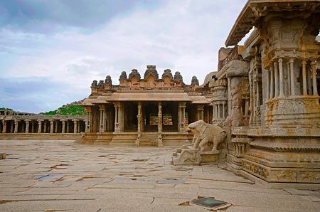 Vittala Temple Complex, Built in 15th century, Hampi, Karnataka, India