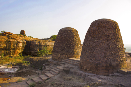 Granaries on the way to Upper Shivalaya – North Fort, Badami