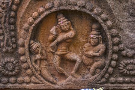 Lord Shiva Dance sculpture. Mahakuta Temples, Badami, Karnataka