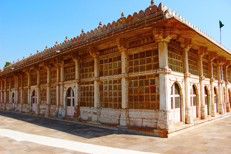 Exterior of Sarkhej Roza mosque in Ahmedabad, Gujarat