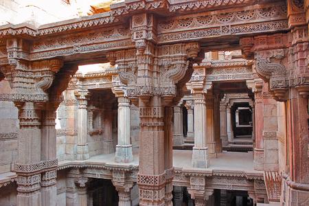 Adalaj Stepwell, Ahmedabad, Gujarat, India. Adalaj stepwell is five stories deep.