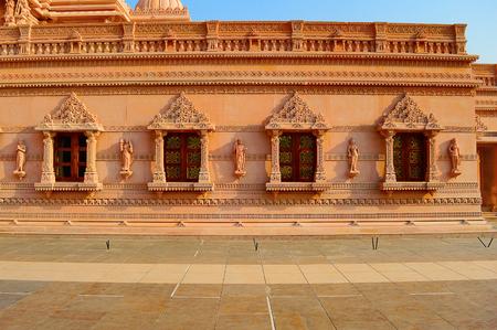 Outside wall of BAPS Shri Swaminarayan Mandir