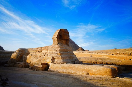 A great sphinx, Is a mythical creature with the head of a human and the body of a lion 版權商用圖片