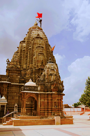 Outer view of Hatkeshwar Mahadev, 17th century temple, the family deity of Nagar Brahmins. Vadnagar, Gujarat, India
