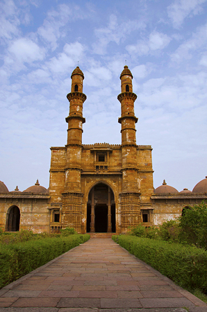 Outer view of Jami Masjid (Mosque), dates to 1513 Stock Photo